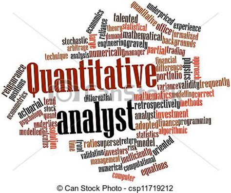 Vector Artwork Definition by Clipart Of Quantitative Analyst Abstract Word Cloud For