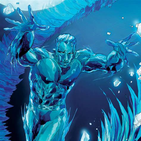 Sale Ts Bijuu iceman illustrated comic book print 11x17 limited