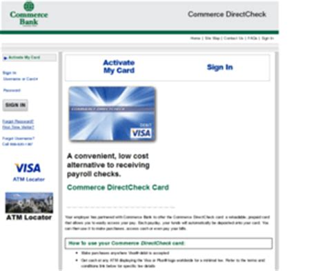 Visa Gift Card Activation Code Location - checkmypaycard com home commerce directcheck