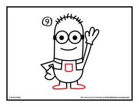 Printable minion images how to draw a minion for kids from