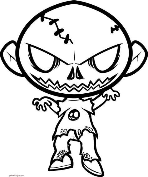 imagenes para pintar zombie dibujos de zombies para colorear