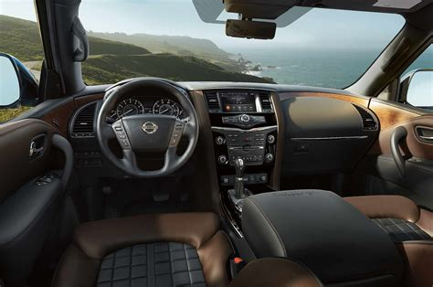 2017 nissan armada platinum interior 2018 nissan armada platinum reserve interior motor trend
