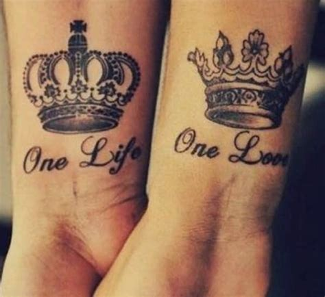 crown tattoos for couples and king crown tattoos for