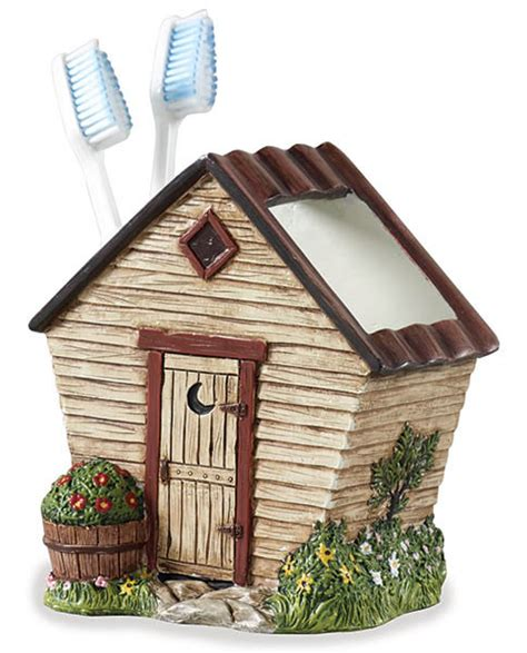 outhouse bathroom set outhouse toothbrush holder