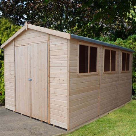 15 X 10 Shed by Shire Workspace Apex Garden Shed 15 X 10 4 47m X 2 98m