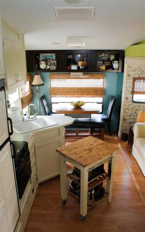 camper renovations couple renovate 5th wheel travel trailer into tiny home