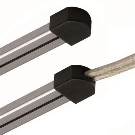feuerschale mit oder ohne loch magnetline endkappe aus kunststoff in grau oder schwarz