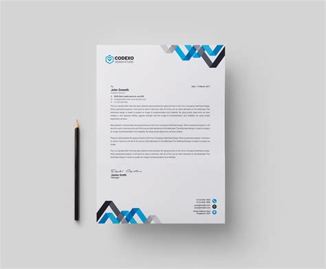 corporate template chevron professional corporate letterhead template 000902