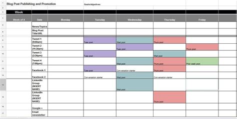 media timeline template the ultimate guide to creating your social media calendar