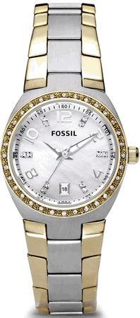 Fossil Colleague Three Am4183 s two tone fossil colleague crystallized am4183