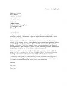 investment banking cover letter template cover letter investment banking cover letter sle a
