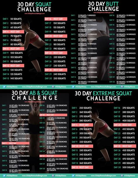 30 day squat challenge for 30 day squat challenge pdf