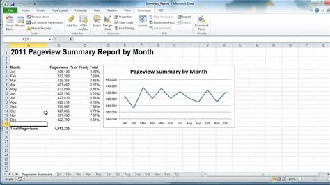 Summary Exle excel vba create summary report exle