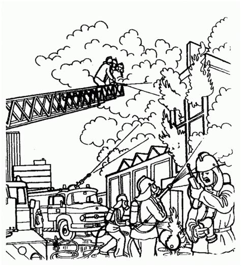 firefighter coloring pages activity fireman coloring pages work coloring