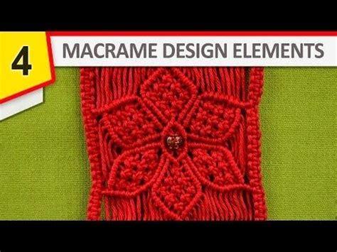 design elements tutorial design elements macrame edging youtube jewelry