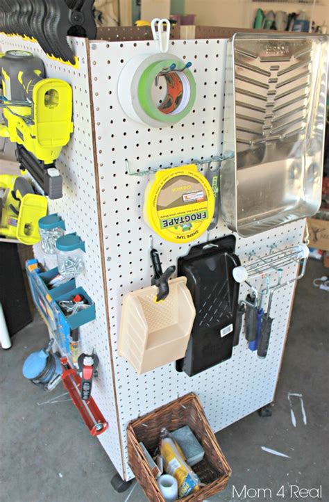 Garage Storage For Power Wheels Build An Organized Pegboard Tool Cabinet And Simple