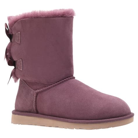 ugg bailey bow boots in purple wine lyst