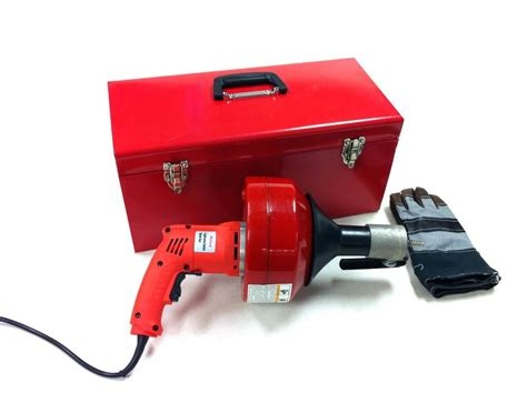 Plumbing Power Auger by Electric Drill Style Auger Snake Pipe Drain Clearing