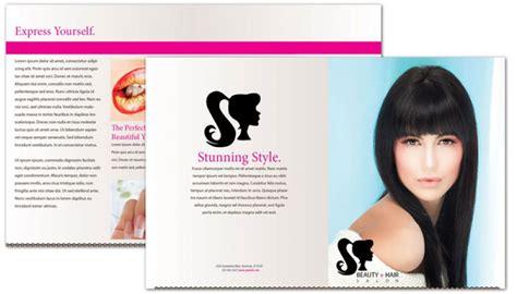 Half Fold Brochure template for Beauty Spa Hair Salon