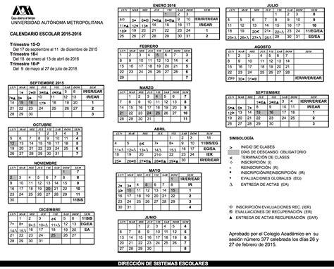 Calendario Escolar Uaemex 2015 Calendarios Escolares 2015 2016 Escolar Mx