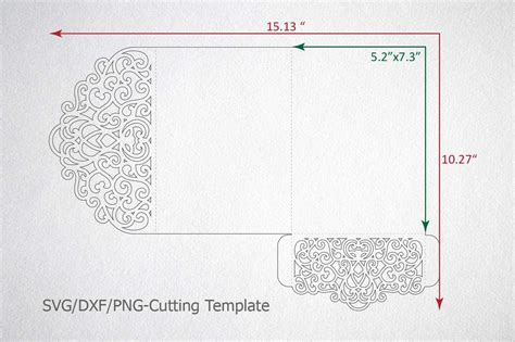 pocket fold envelope template tri fold wedding invitation pocket envelope svg template