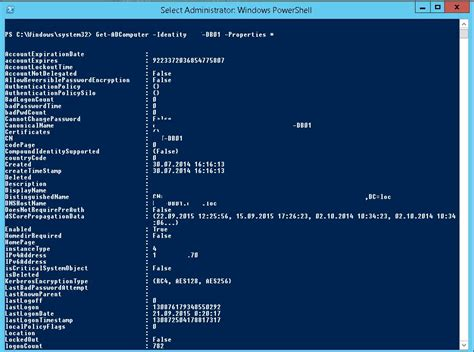 format date powershell get adcomputer getting active directory computers info