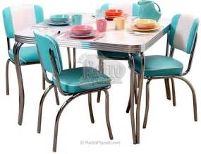 red chrome dining set search