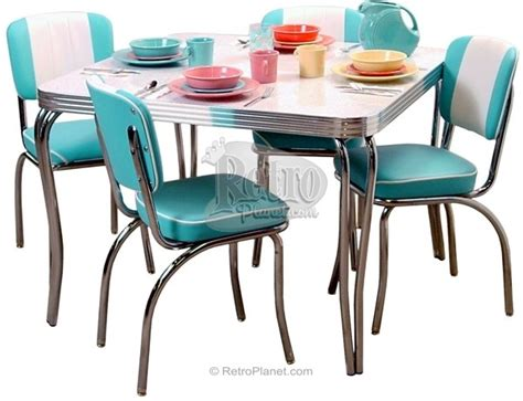 retro style dining table and chairs 301 moved permanently