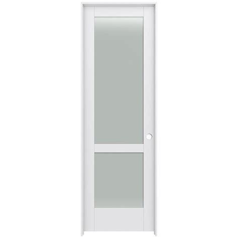 jeld wen smooth 10 lite primed pine prehung interior shop jeld wen moda primed 2 lite frosted glass pine