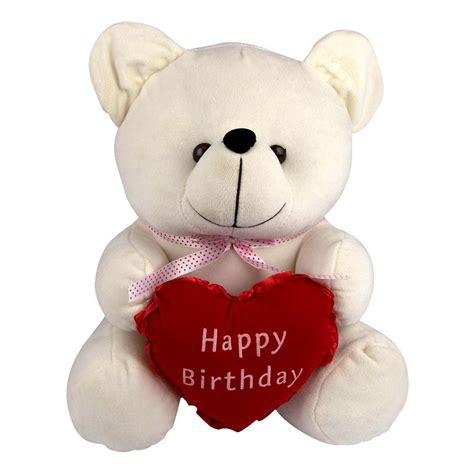 The Teddys And Toys Address Book happy birthday white teddy 12 inches in hyderabad winni in