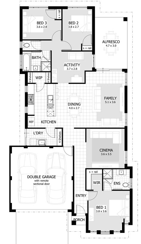 Images Of House Plan by 3 Bedroom House Designs And Floor Plans Interesting Three