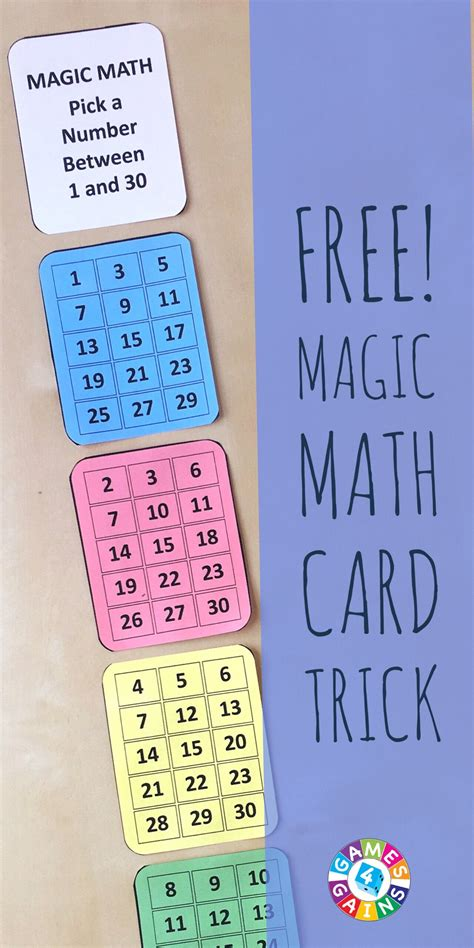 printable magic number cards amaze your students with this math magic trick games 4