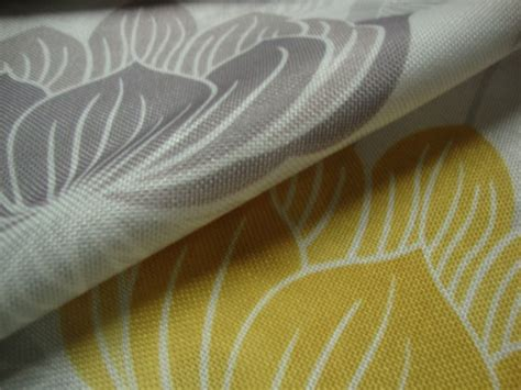 Roma Upholstery Fabric by Roma Yellow Floral Curtain Fabric Cotton