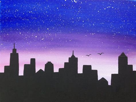 paint nite garden city 25 best ideas about skyline painting on city