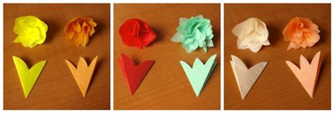 How To Fold A Tissue Paper Flower - tissue paper flowers what i do