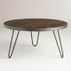 Circular Wood Coffee Table Wood Hairpin Coffee Table World Market