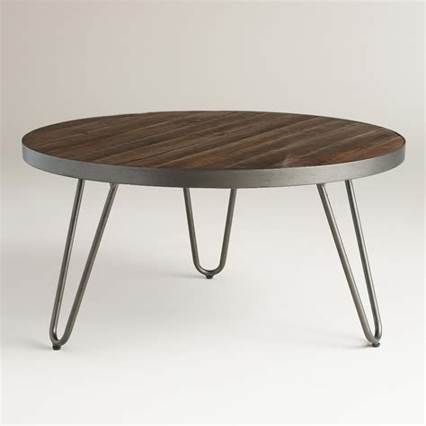 hairpin bench round wood hairpin coffee table world market
