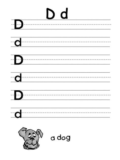 letter d worksheet for firstgrade preschool crafts