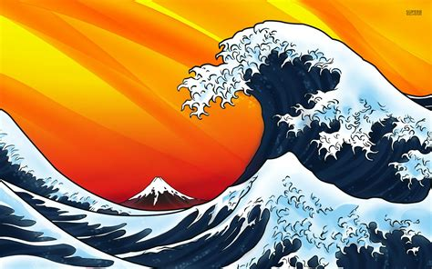 Japanesestyle 14 japanese wave vector images japanese style waves