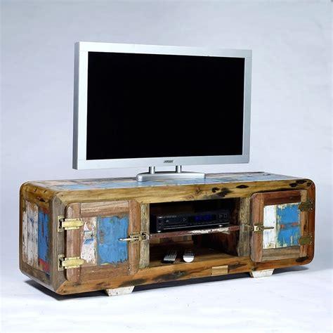 Meuble Tv Vintage Pas Cher by Meuble Tv Vintage 2 Portes Bois De Bateau Recycl 233 Pas Cher