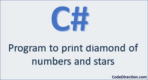 diamond pattern of numbers in c how to print diamond pattern in c code direction