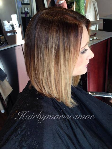 long aline bob pics hair cut lob bottom color hair by marissa mae find her