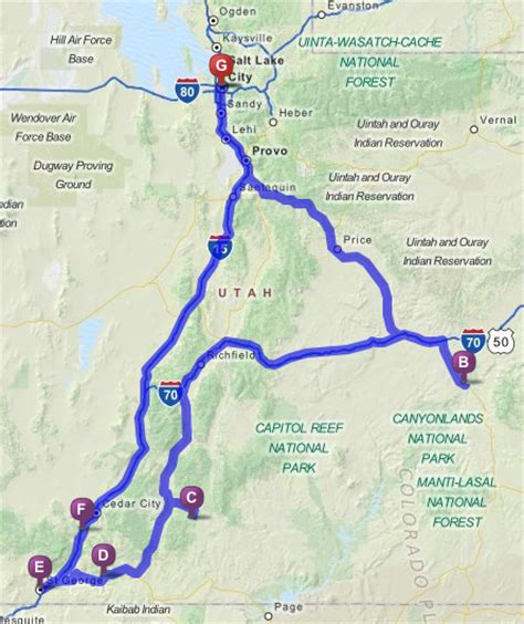 utah national parks map utah national parks with great family road trips