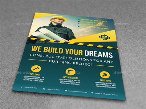 construction flyer templates construction advertising bundle vol 4 by owpictures