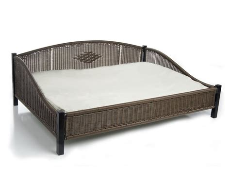 large bed elevated wicker bed large
