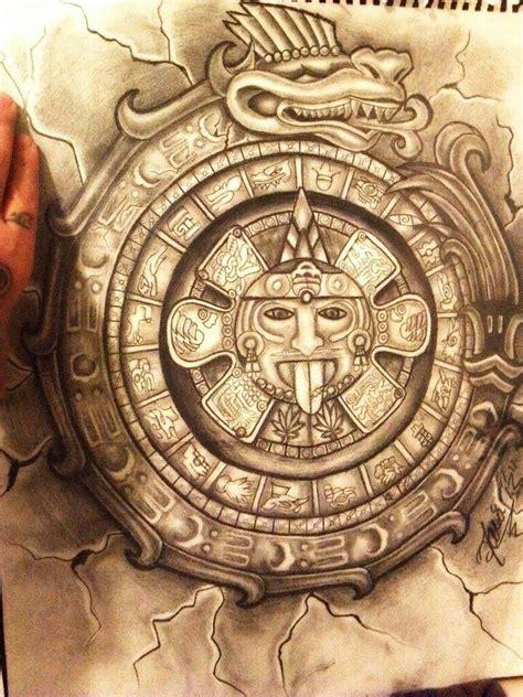 aztec calendar tattoos aztec calendar brown pride discover more
