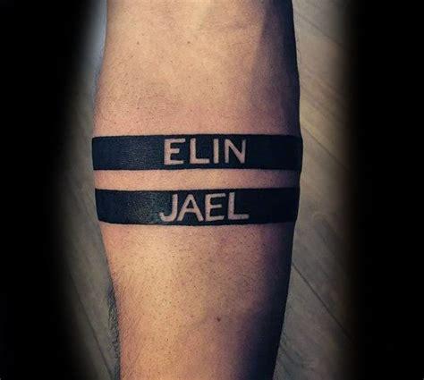 tattoo lettering bracelet 60 name tattoos for men lettering design ideas
