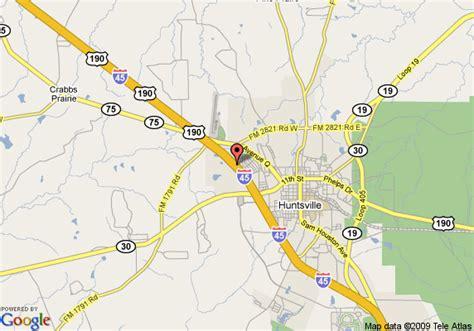 map of huntsville texas map of la quinta inn huntsville huntsville