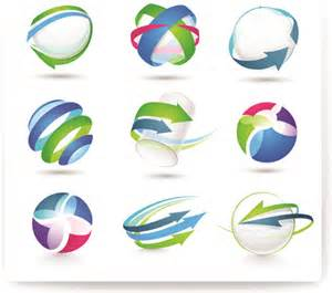 free 3d logo templates modern 3d logos design elements vector free vector in
