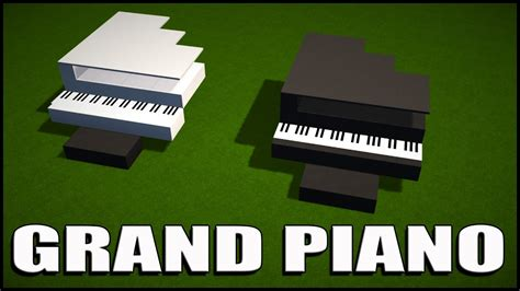 tutorial piano minecraft minecraft tutorial how to build easy simple grand